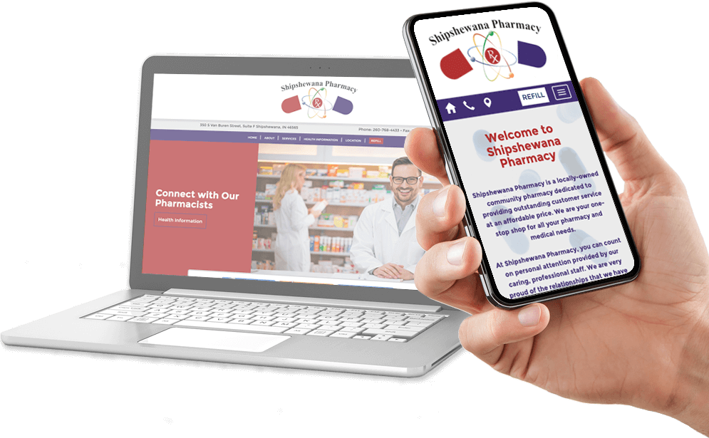 Digital MindScapes Client Preview – Shipshewana Pharmacy Website